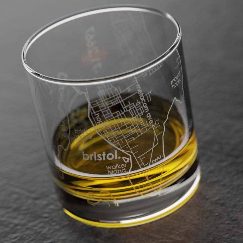 Bristol RI Whiskey Glass