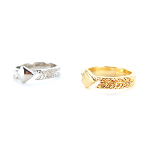 Arrow Brass Adjustable Ring