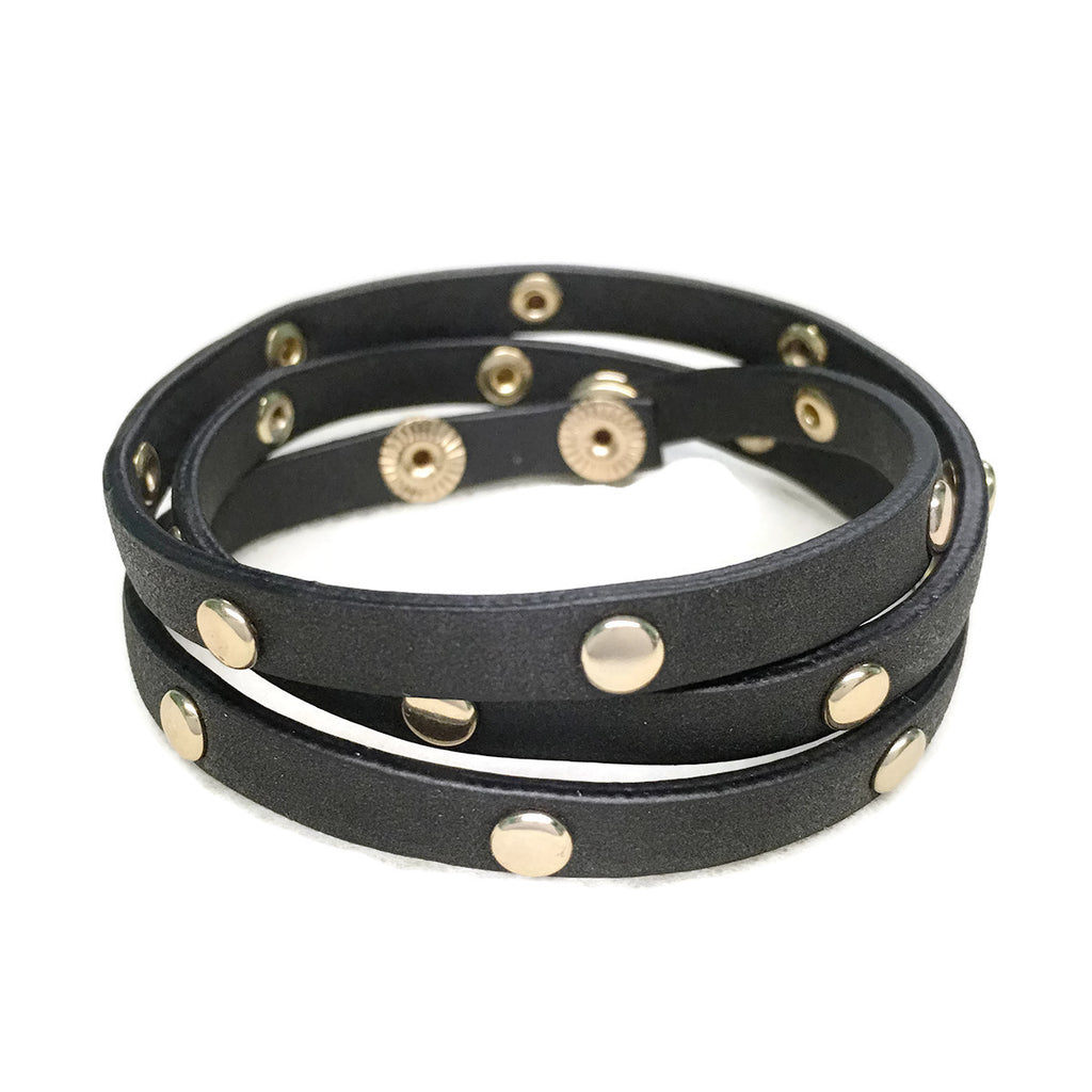 Circle Metal Stud Leather Wrap