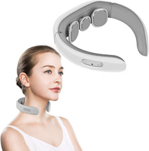 Load image into Gallery viewer, Cotsoco Neck Massager, Electric Pulse Neck Massager, Intelligent Deep Tissue Neck Massage for Cervical Muscle Pain Stiff Fatigue Relief
