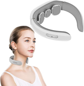 Cotsoco Neck Massager, Electric Pulse Neck Massager, Intelligent Deep Tissue Neck Massage for Cervical Muscle Pain Stiff Fatigue Relief