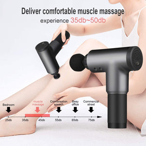 Cotsoco Massage Gun,Cordless Handheld Deep Tissue&Muscle Massager, 6 Speeds Percussion Massage Device Super Quiet, Black
