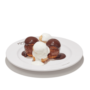 Black and White Profiteroles