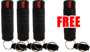 Pepper spray hard case keychain