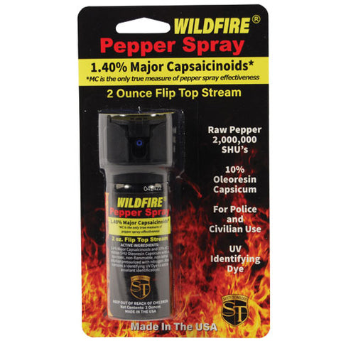 2oz Wildfire Flip Top Pepper Spray (1.4% MC)