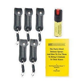 Leatherette Key Chain Pepper Spray for Groups