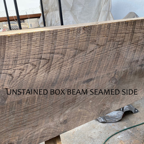 Box Beam not Stained, Sides seamed together