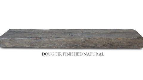 Reclaimed Douglas Fir Mantle Finished
