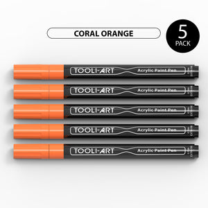 Acrylic Paint Pens 0.7mm EXTRA-FINE Tip: 5-Pack, Your Choice of Any 1 Color