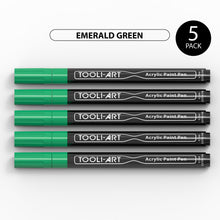Load image into Gallery viewer, Acrylic Paint Pens 0.7mm EXTRA-FINE Tip: 5-Pack, Your Choice of Any 1 Color