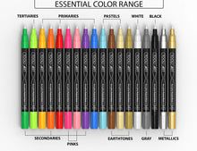 Load image into Gallery viewer, TOOLI-ART 18 Acrylic Paint Pens Assorted Markers Set 0.7mm (Extra Fine Tip)