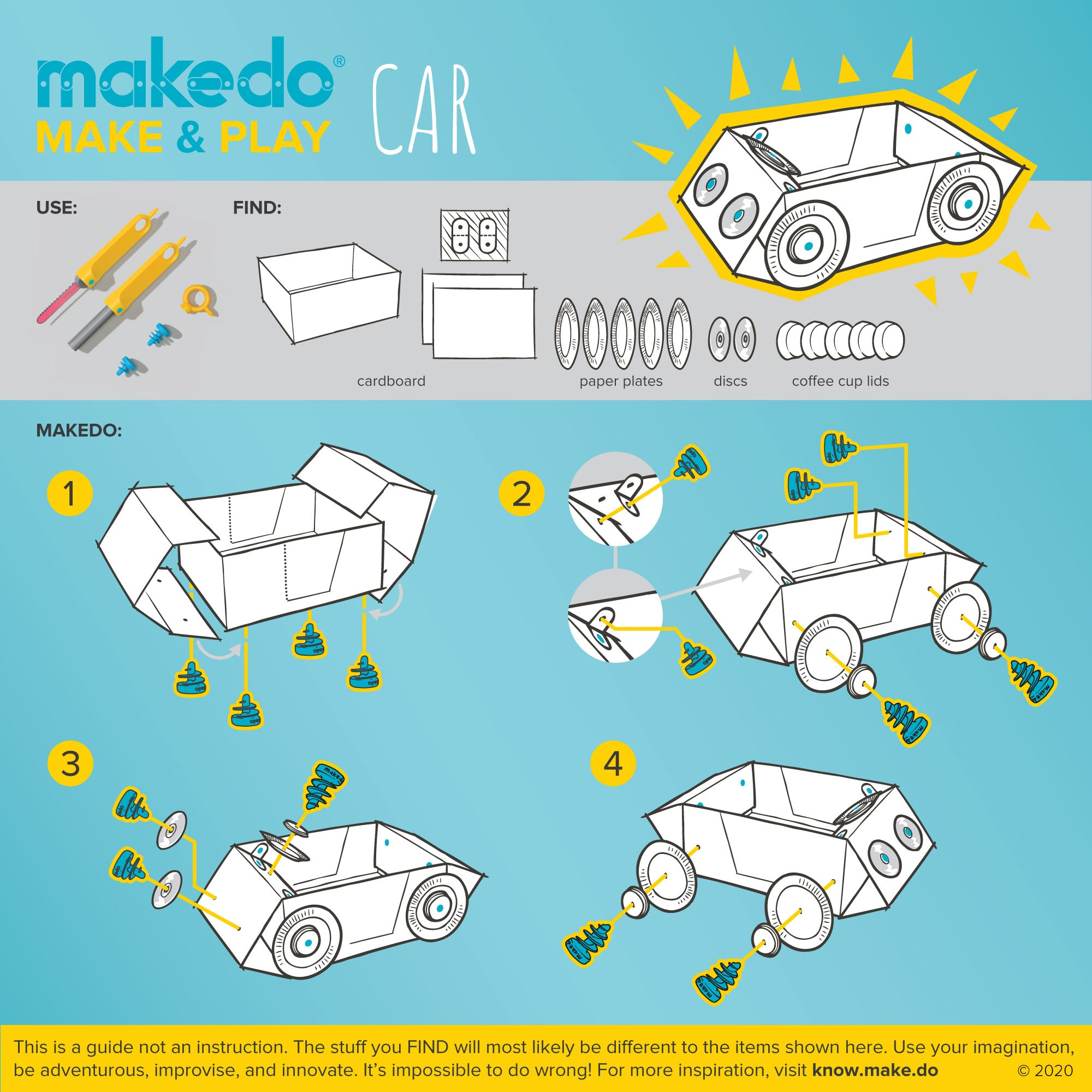 Makedo guided creation - Make & Play -  Car