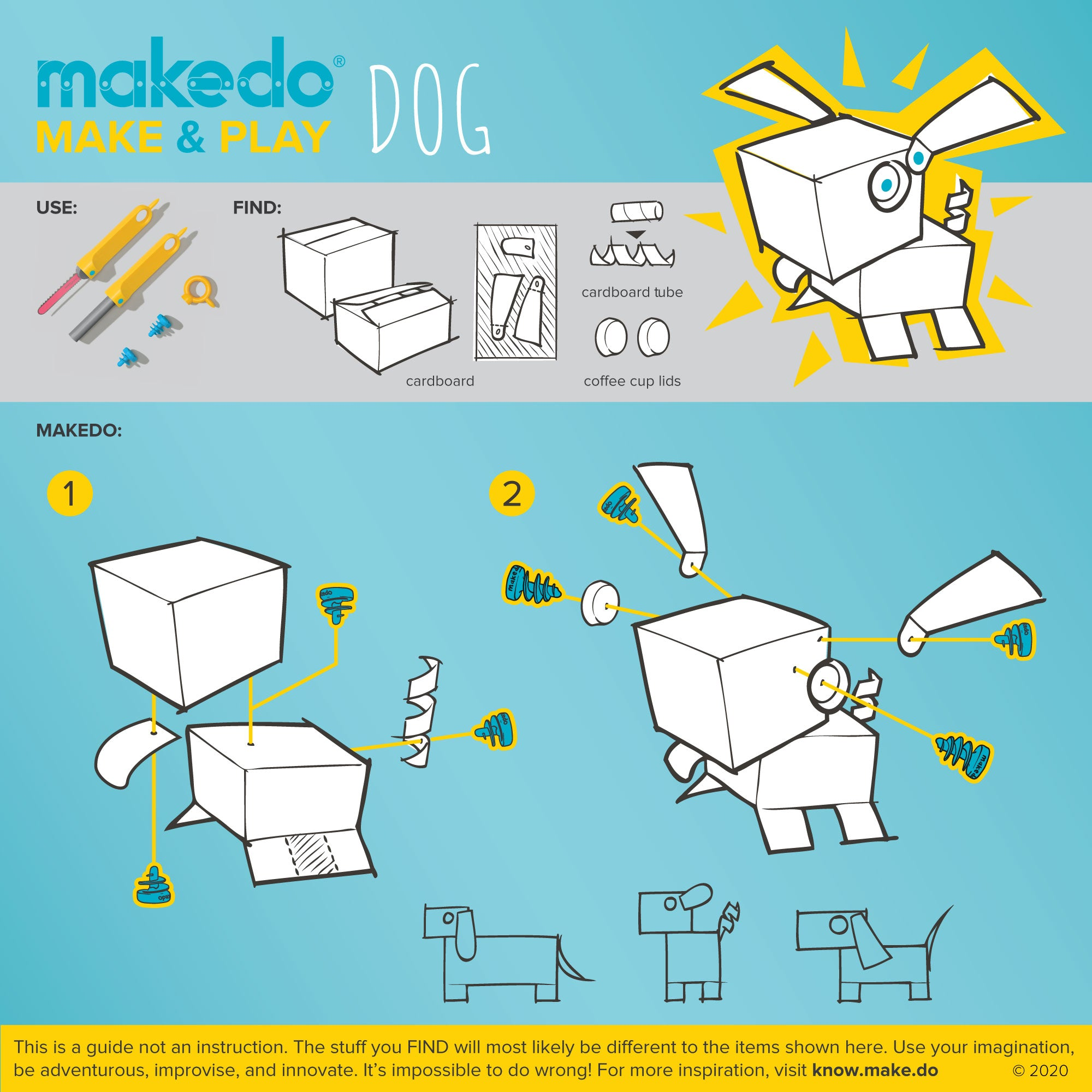 Makedo Make & Play guided creation - Dog
