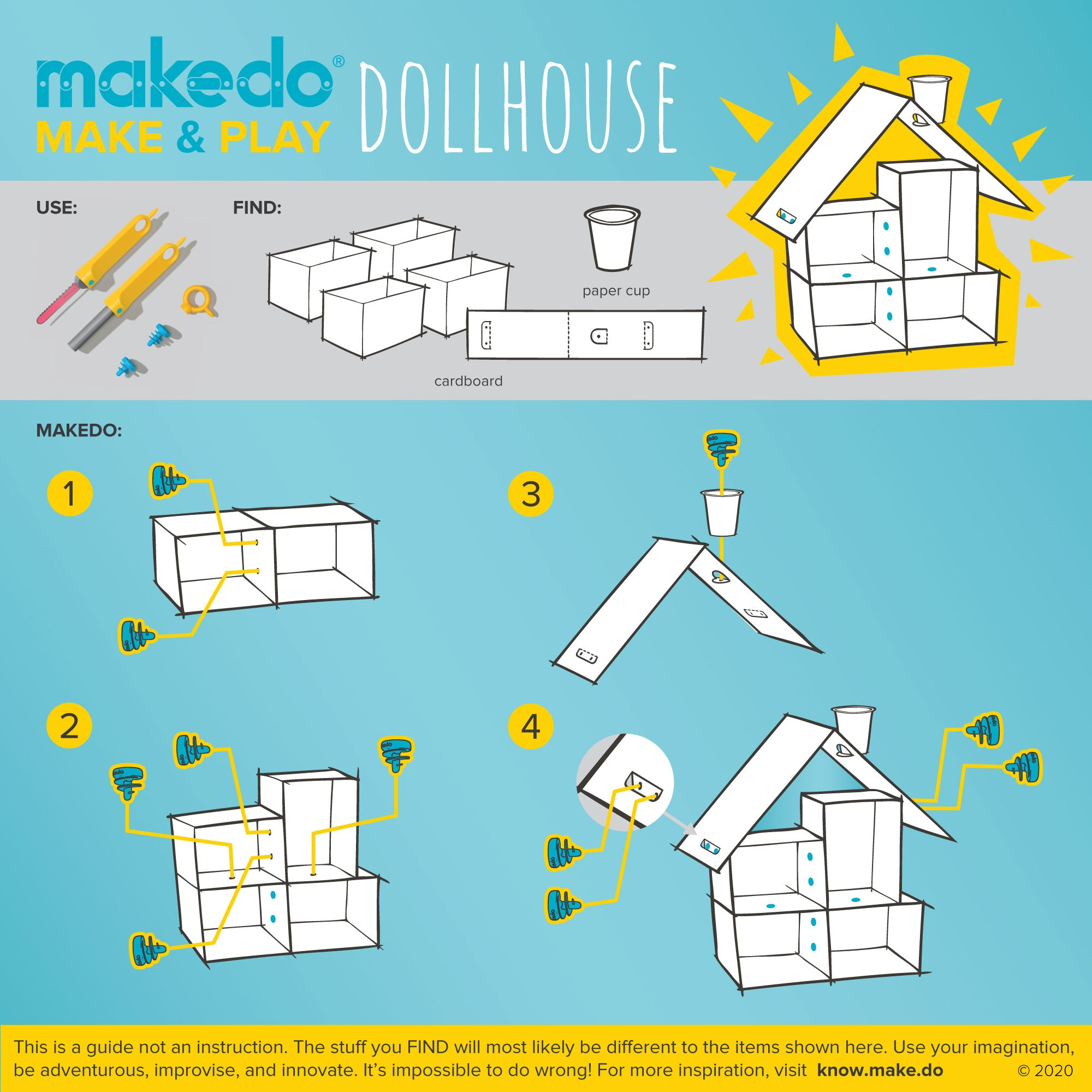 Makedo guided creation - Make & Play - Dollhouse