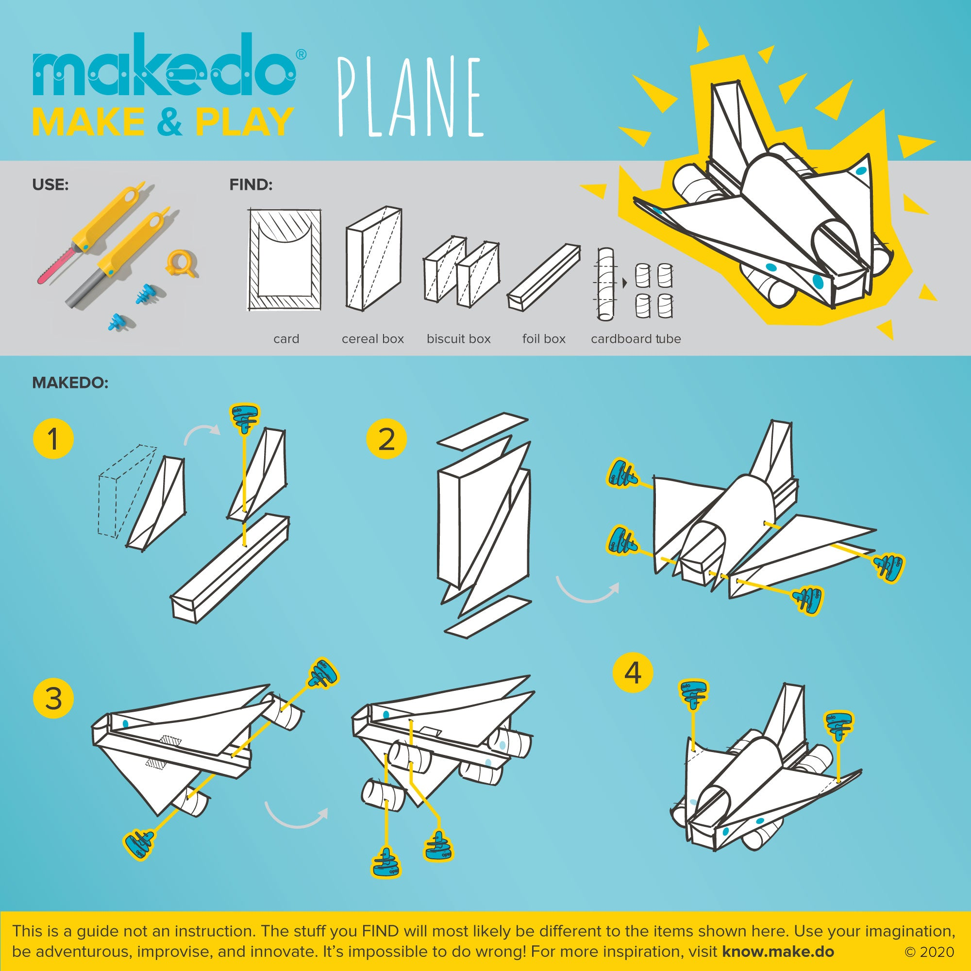 Makedo guided creation - Make & Play - Plane