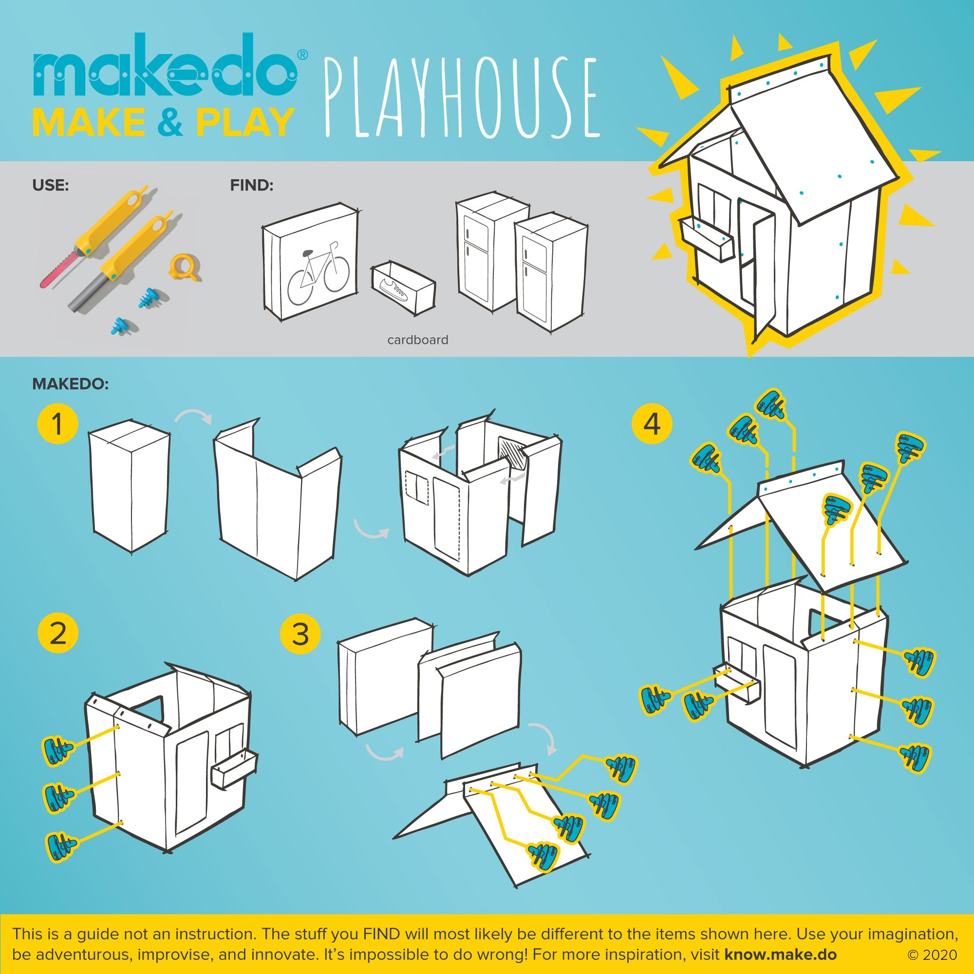 Makedo guided creation - Make & Play - Playhouse