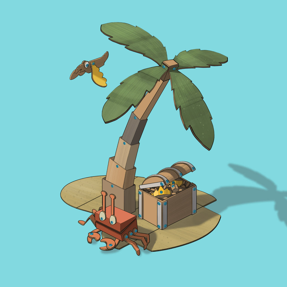 Makedo illustrated creation - treasure island
