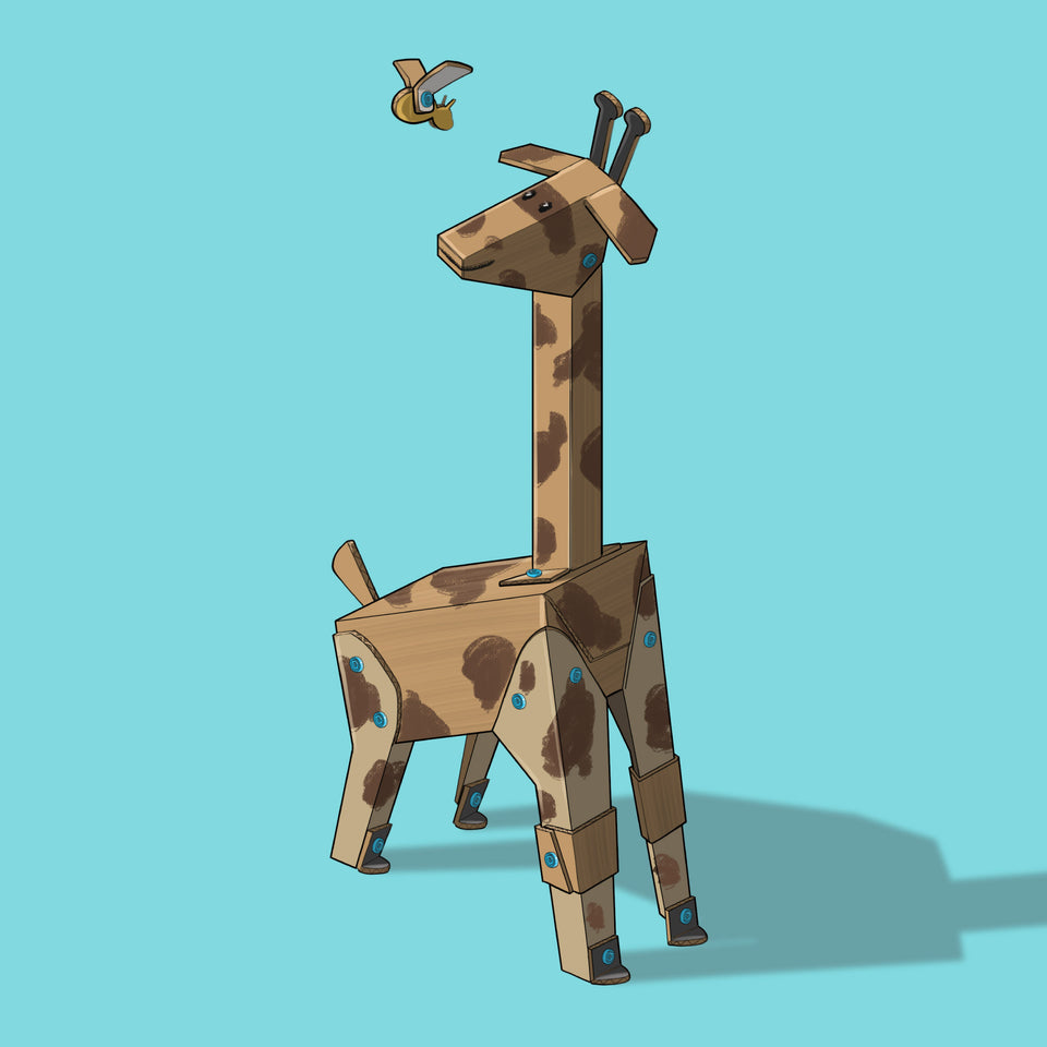 Makedo illustrated creations cardboard giraffe