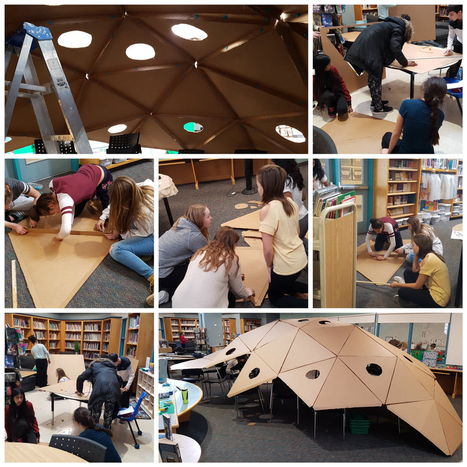 Building a Cardboard Dome Reading Space with Makedo
