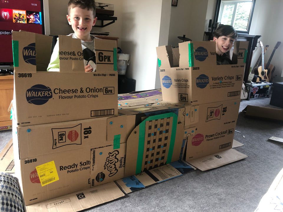 Makedo Structures - Cardboard Castle with drawbridge