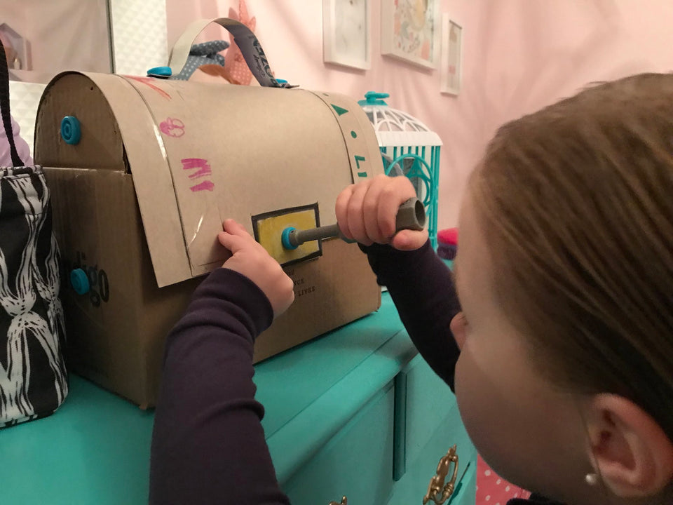 Makedo cardboard treasure chest