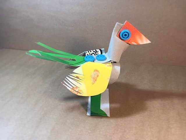 Makedo cardboard bird creation by lottiesmith instagram
