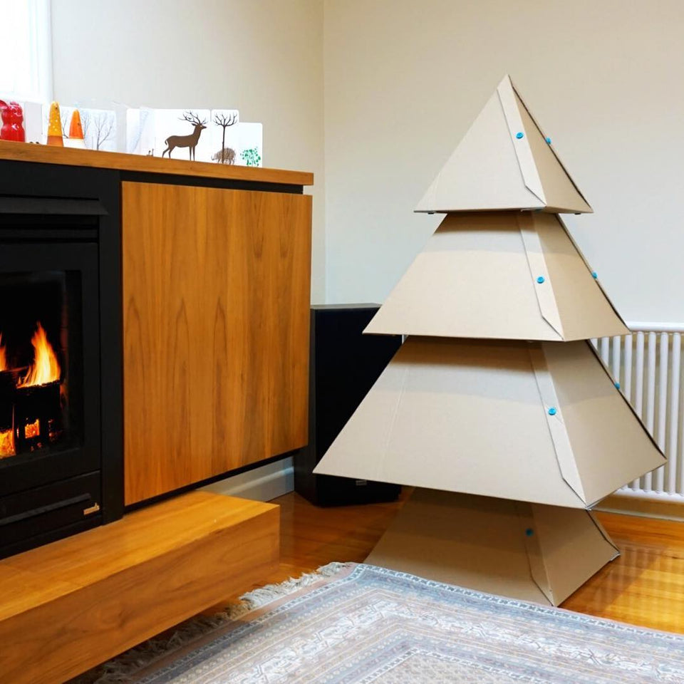 How To Make a Cardboard Christmas Tree