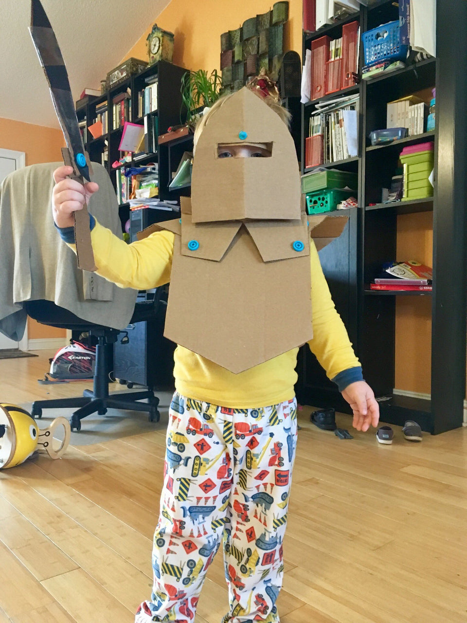 Cardboard armor Makedo construction system