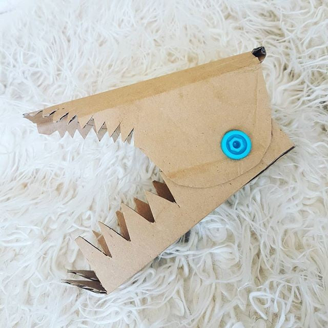 Makedo cardboard creation simple snappy teeth via instagram mrs_peterson_herb