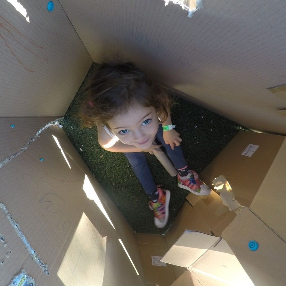 Makedo There's nothing quite like crawling inside a cardboard box that is filled with your own imagination