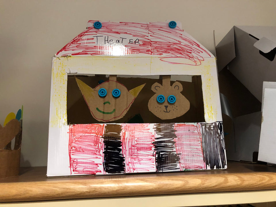 Puppet Theatre made with Makedo cardboard construction system