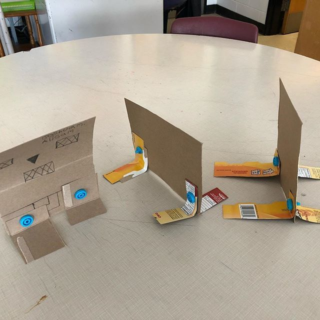 Simple cardboard critters using Makedo