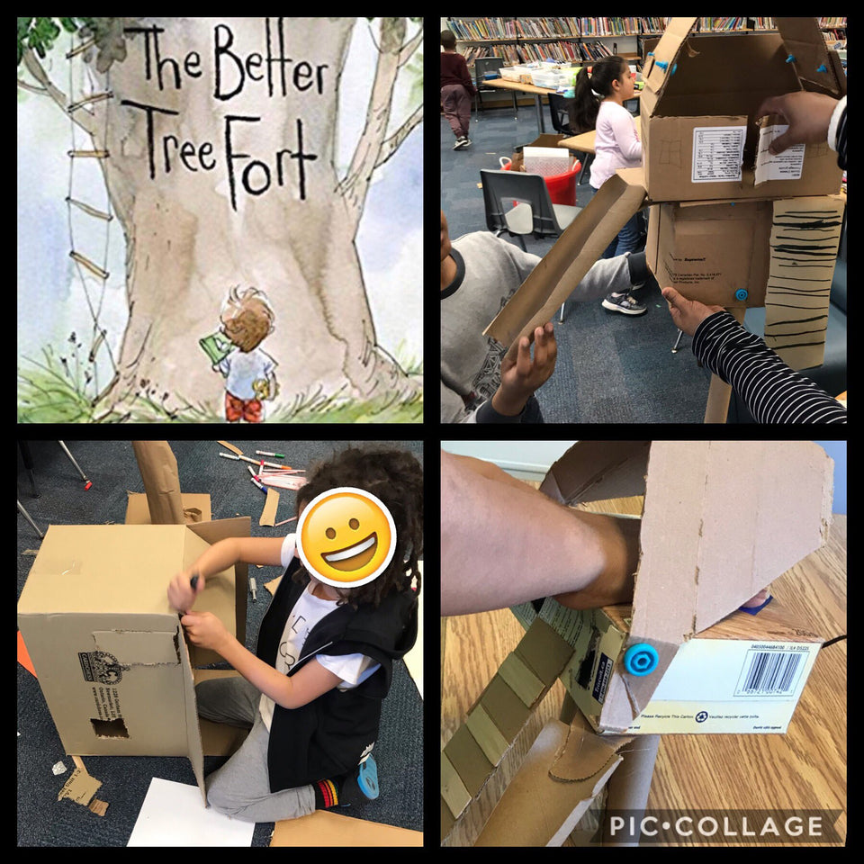 Building The Better Tree Fort with Makedo cardboard tools