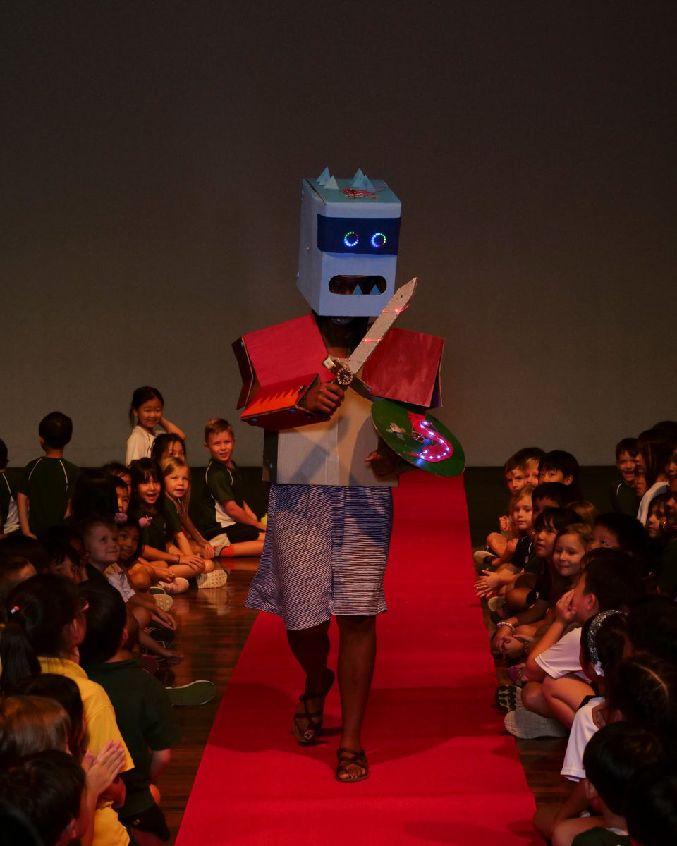 Snapshots From The Classroom: Robot Fashion Show