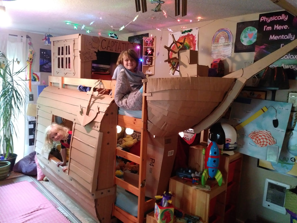 Captain Thunder Pirate Ship Bunk Bed