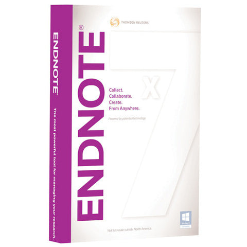 Endnote X7 Upgrade from Tech-Crawl.com