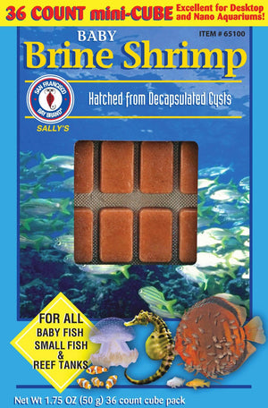 Baby Brine Shrimp Cubes 1.75oz (Frozen) - Corals Fish and Beyond