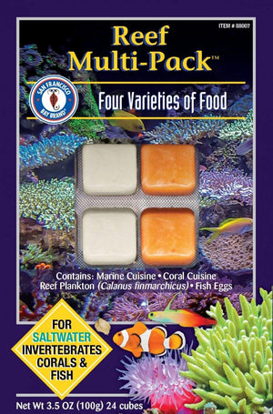 Multi-Pack Reef Cube 3.5oz (Frozen) - Corals Fish and Beyond