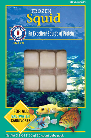 Squid Cube 3.5oz (Frozen) - Corals Fish and Beyond