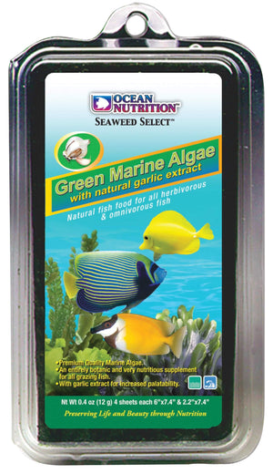 SM Green Marine Algae Sheets (4 Sheets) - Corals Fish and Beyond