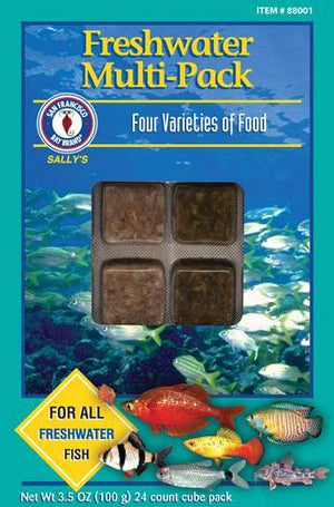 Freshwater Multi-Pack Cube 3.5oz (Frozen) - Corals Fish and Beyond
