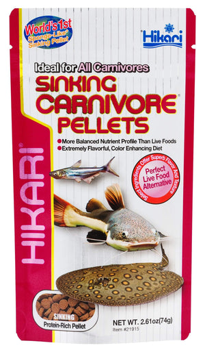 Sinking Carnivore Pellets 2.61oz - Corals Fish and Beyond