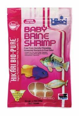 Bio-Pure Baby Brine Shrimp 1.75oz (40 mini Cubes) - Corals Fish and Beyond