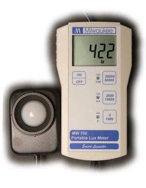 Milwaukee Instruments MW700 LUX Light Meter with Sensor - Corals Fish and Beyond