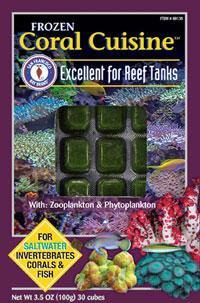 Coral Cuisine Cubes 3.5oz (Frozen) - Corals Fish and Beyond