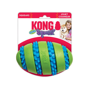 KONG SQUEEZZ GOOMZ FOOTBALL DOG TOY
