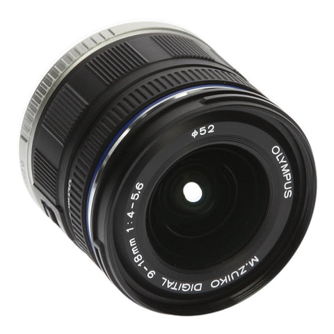 Olympus Zuiko Digital 9-18mm 1:4-5.6 ED Micro Four Thirds schwarz - asgoodasnew.com - neu