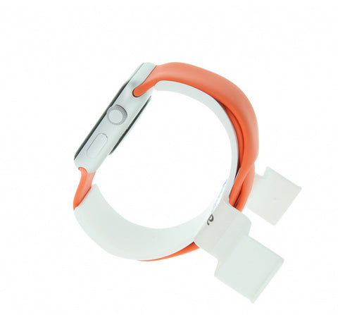 Apple Watch Sport 38mm mit Sportarmband orange aluminium silber - asgoodasnew.com - neu