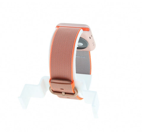 Apple Watch Series 2 Aluminiumgehäuse rosegold 42mm mit Nylon-Armband orange/anthrazit alumiunium rosegold