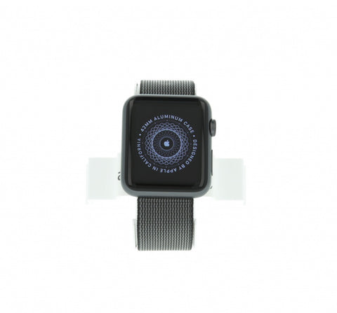 Apple Watch Sport (1. Generation) 38mm Aluminium spacegrau Gehäuse mit Nylon-Armband schwarz
